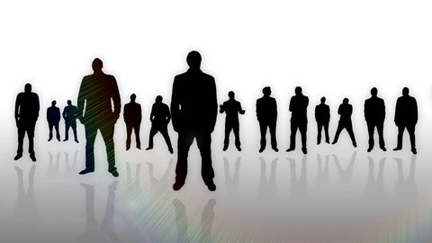 Business men meeting silhouettes animation - 1080p