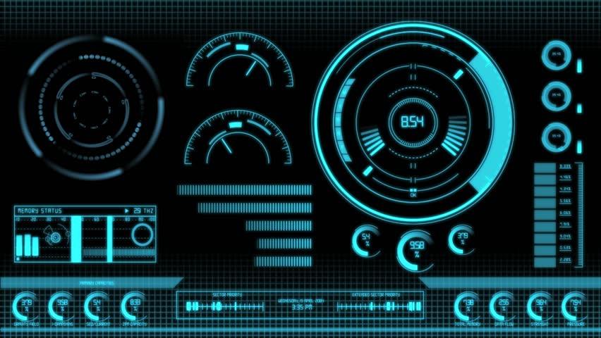 3D animation od a futuristic computer data screen | Shutterstock HD Video #6773425