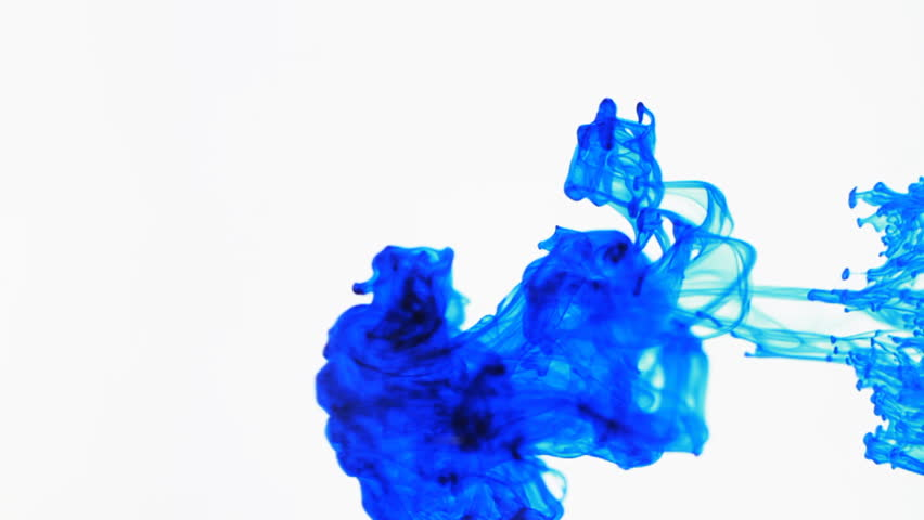 Colored Ink Dropped Into Water, Shot At 60fps And Slowed to 30fps In Post. Shot With A Canon 7D  Could Be Used As An Alpha Mask