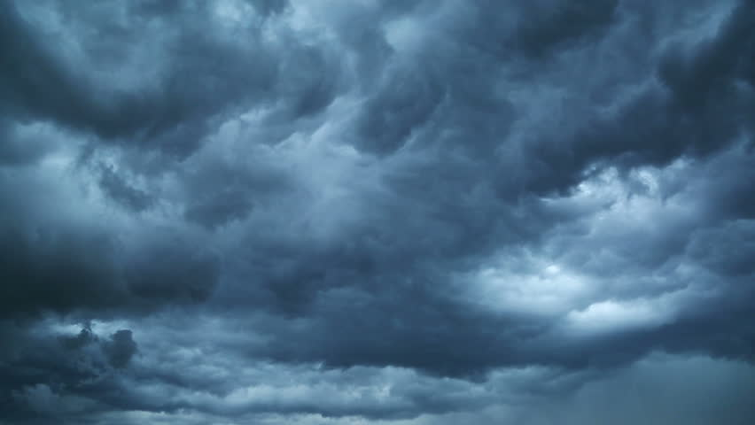 Dark storm clouds are moving fast at viewer - timelapse | Shutterstock HD Video #6845779