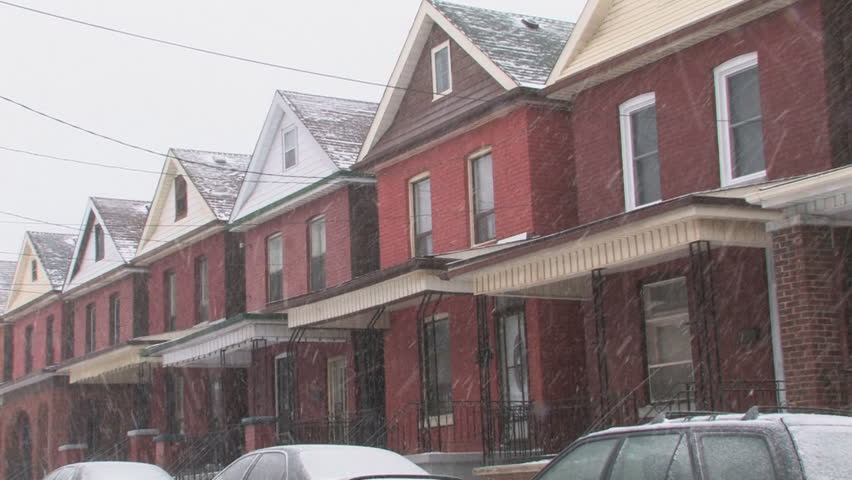 Awesome Snowy Houses Wide Shot Row Stock Footage Video 100 Royalty Free 686245 Shutterstock Interior Design Ideas Skatsoteloinfo