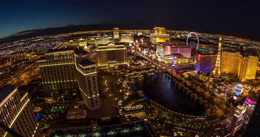 LAS VEGAS - CIRCA JULY 2014: Las Vegas strip evening night neon lights | Shutterstock HD Video #6862585