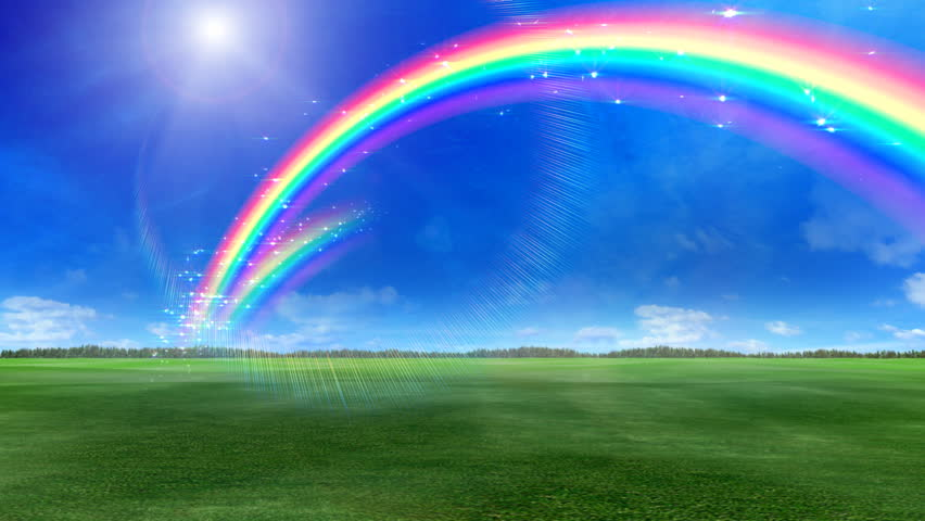 Sky rainbow in sunny day stock image. Image of natural ... |Real Rainbows In The Sky On A Sunny Day