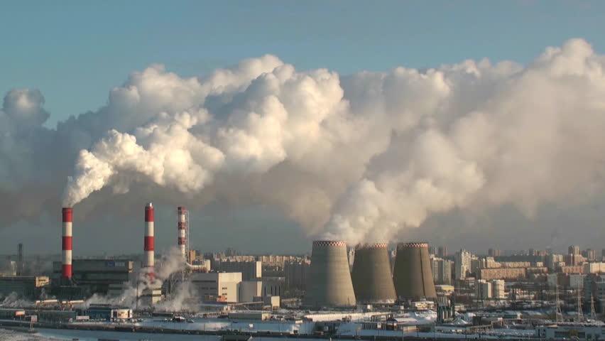 Smoking power plant | Shutterstock HD Video #687352