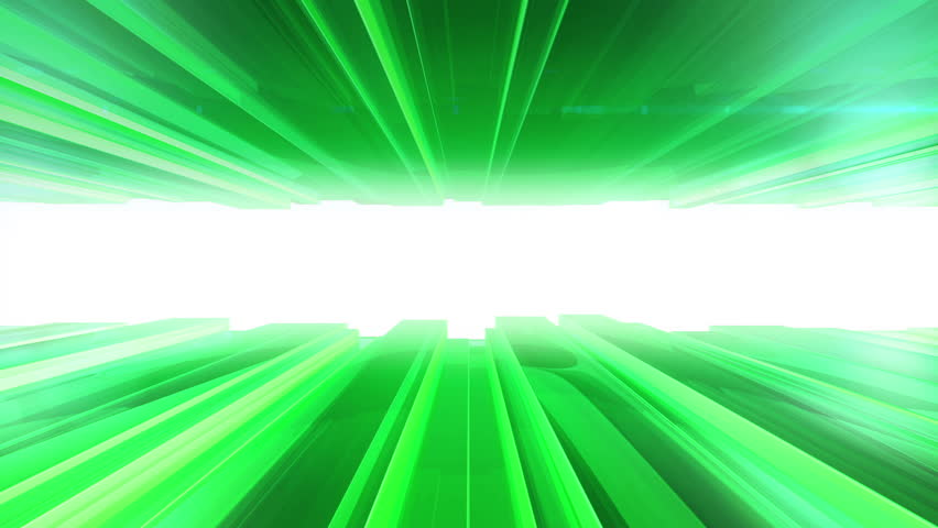 Animation of moving green stripes from glass. Concept of movie about global communication or movie about city buildings. Animation of seamless loop.  | Shutterstock HD Video #6875035