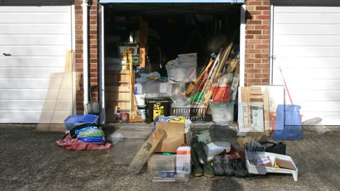 Big, Garage clear-out, best intentions, clear all the rubbish. Great for a removal company, storage company. Ladders,boxes,crates,paintings,toys,coats and every kind of if item lurks here.