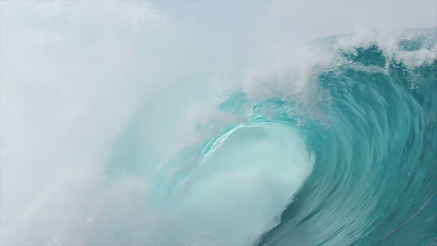 Slow Motion Blue Ocean Wave  | Shutterstock HD Video #6900745