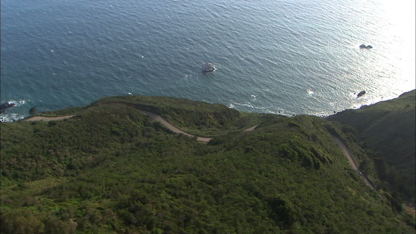 Aerial shot of the hilly coast of Big Sur | Shutterstock HD Video #6937465