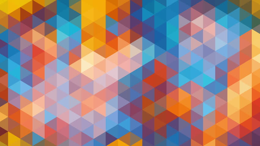 Pattern Of Geometric Shapes, Abstract Animation Stock Footage ...