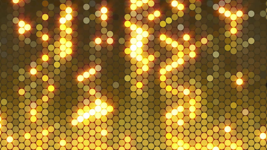 Loop background of gold sequins, in a hexagonal lattice. Suitable for music and dance visuals, parties, Christmas, birthdays, New Year's Eve or other celebration or anniversary. In 4K ultra HD.
