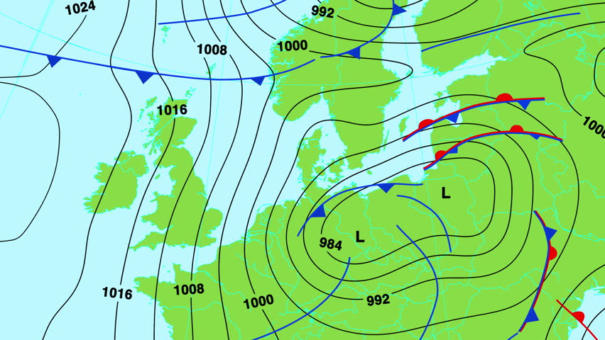 Animated Weather Forecast Map Of Central And North Europe Great - Us weather map fronts