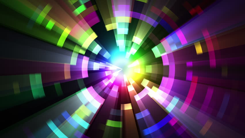 Loop Animation Of Abstract Psychedelic Laser Lights ...