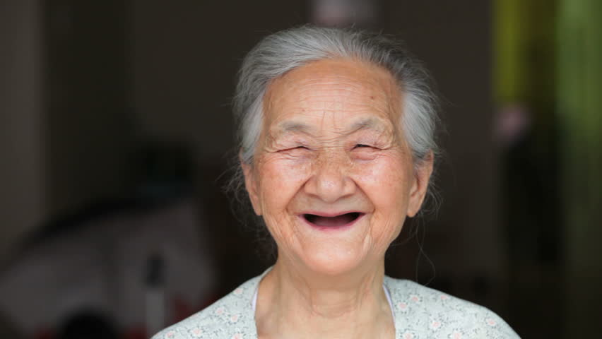Happy senior woman laugh | Shutterstock HD Video #6986485