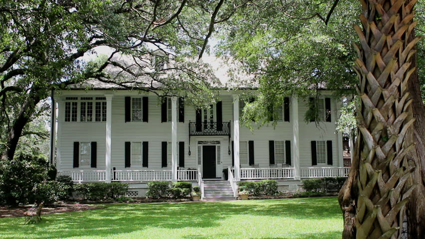 A historical southern plantation in Georgetown, South Carolina USA reminiscent of the antebellum south