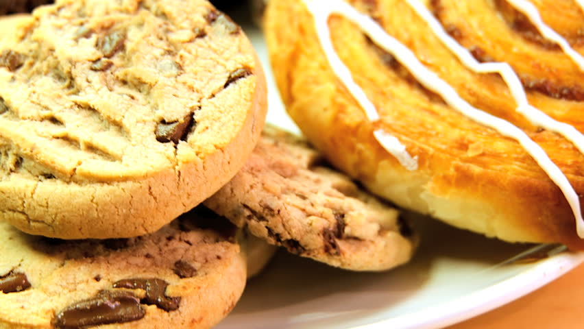 Indulgent choice of sweet & sticky cakes & cookies