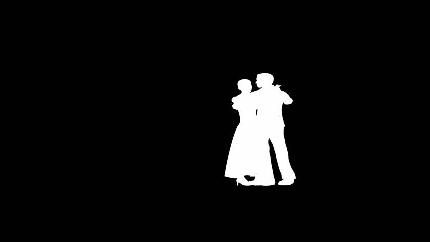 silhouette romantic couple dancing classic dance