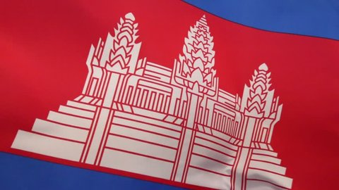 The national flag of Cambodia was readopted in 1993, after elections returned the monarchy to rule. It features a representation of Angkor Wat.