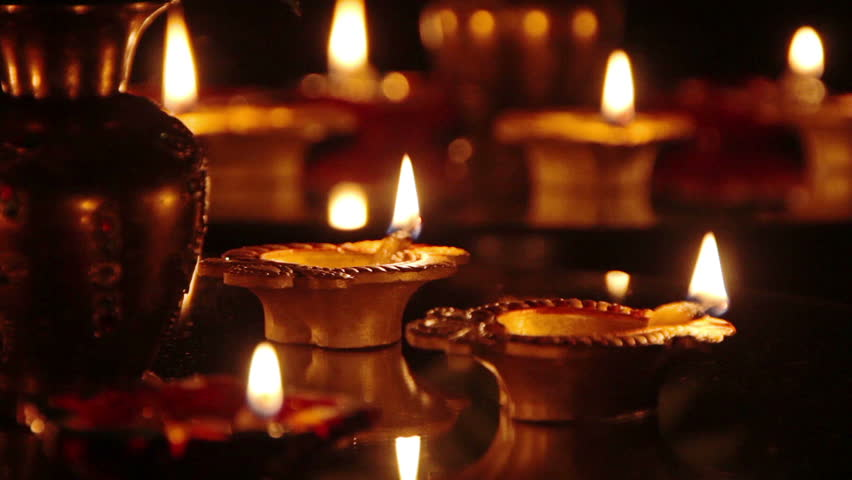 Deepak Oil Lamp Deepavali Stock Footage Video 7174735