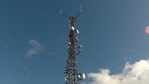 Antenna mast timelapse footage