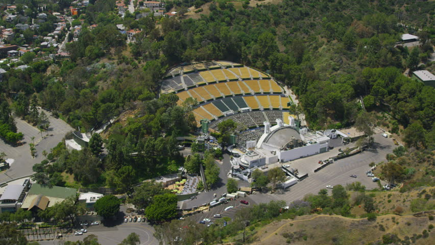 Los Angeles Circa 2017 Aerial View Of Hollywood Bowl Outdoor Amphitheater Stadium In The California Usa