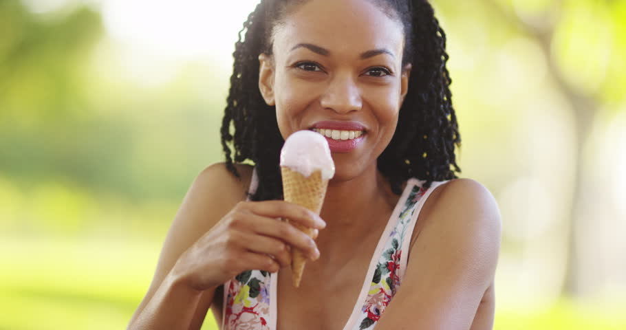 unforgettable closeness with sweet lady eating ice cream  222795