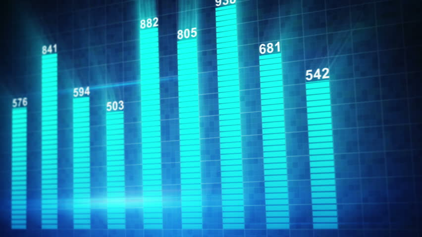 Modern statistic graph chart animation. Computer generated seamless loop abstract motion background