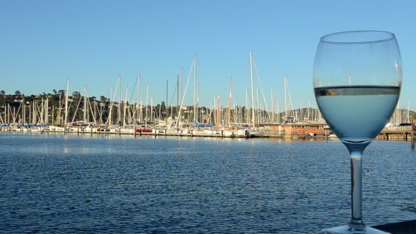 Sausalito california ca above san francisco wine glass at for Wine therapy boat sf