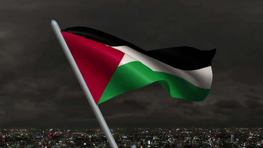 Stock video clip of palestinian flag animation 4k resolution ultra shutterstock - Palestine flag wallpaper hd ...
