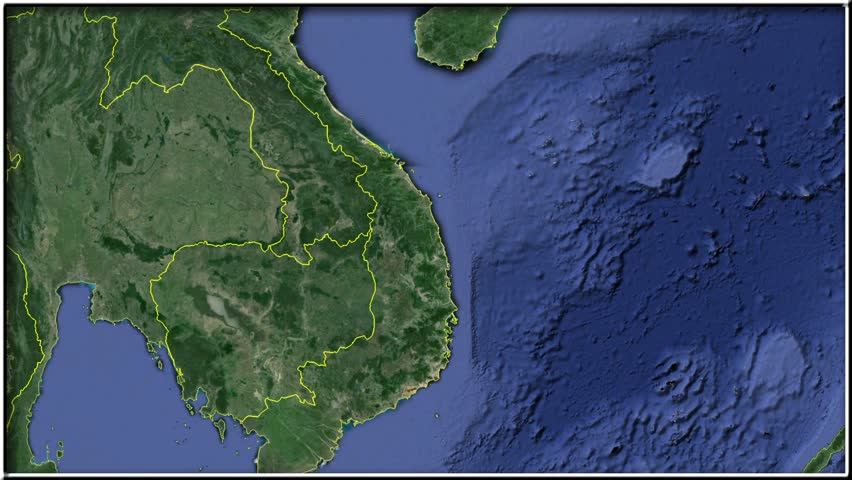 Nicaragua On The Satellite Map Outlined And Glowed Elements Of - Nicaragua map hd