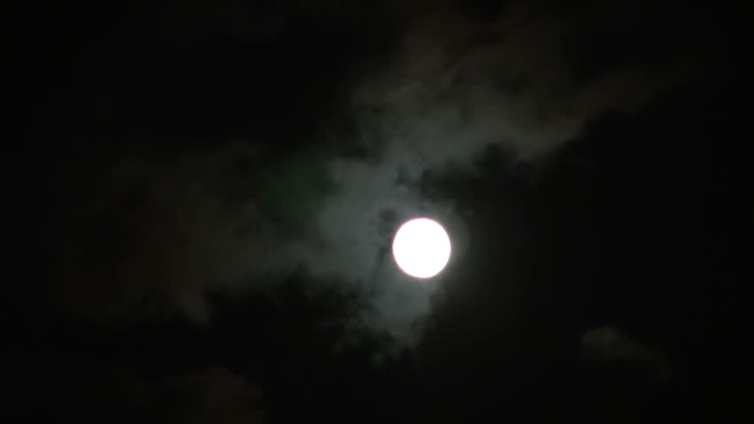 The moon and the clouds   Shutterstock HD Video #7347745
