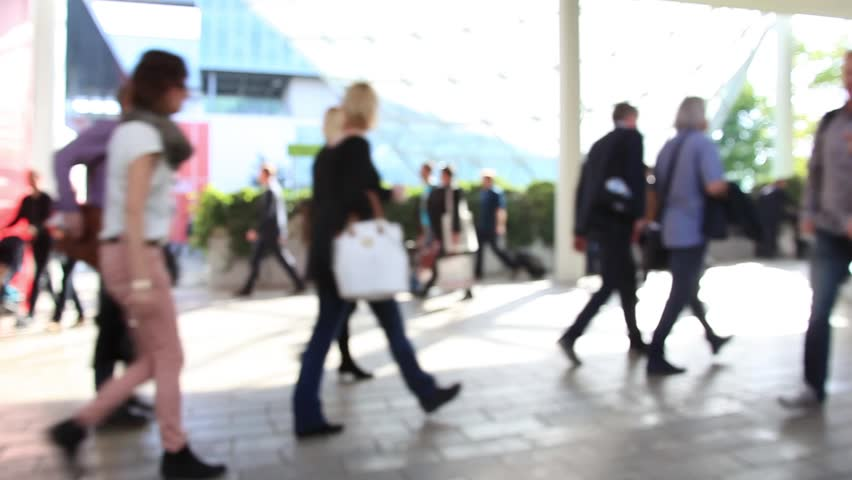 Commuters moving no, time lapse. Intentionally blurred background. | Shutterstock HD Video #7398199