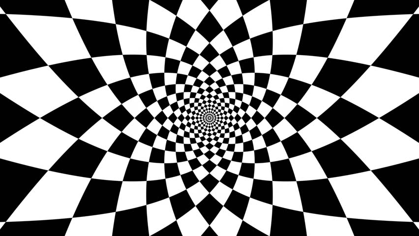 Concentric oncoming abstract symbol, rhomb - optical, visual illusion