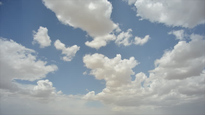 The blue sky white clouds. Rapid floating clouds. | Shutterstock HD Video #7439575