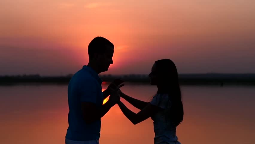 Image result for silhouette of man and woman dancing