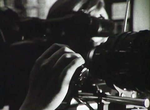 FORMER U.S.S.R. - CIRCA 1950-1960: Newsreel. The work of the shooting crew of the film. The shooting of the movie