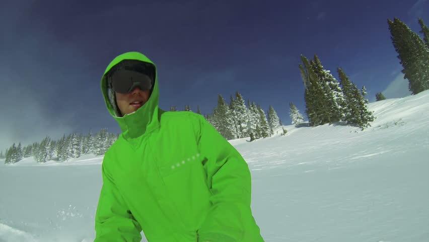 POV Snowboarding Winter Sport HD  #7492615