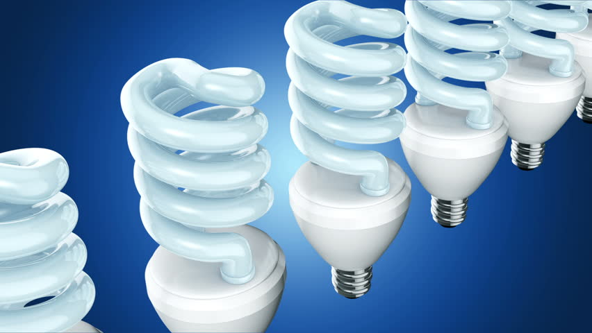Spiral shape CFL light in colorfull background. | Shutterstock HD Video #7508545