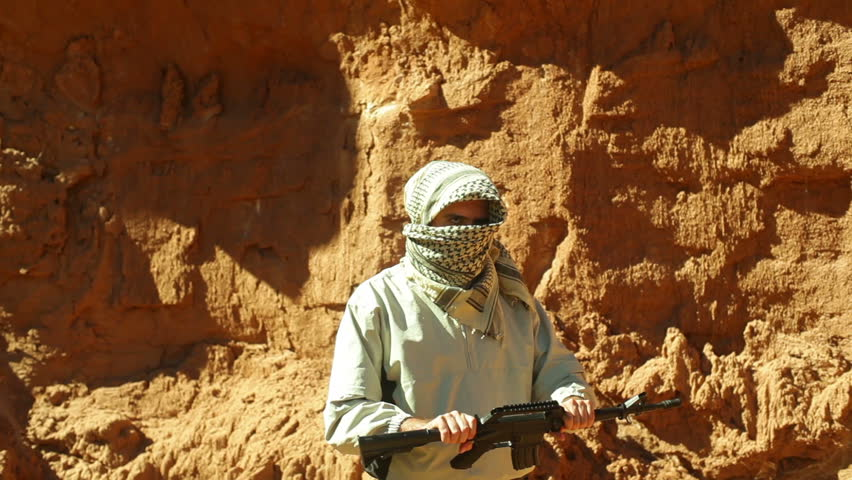 A terrorist in the desert