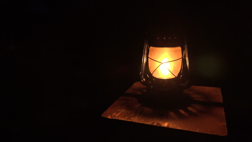 Oil Lamp Lit In The Stock Footage Video 100 Royalty Free