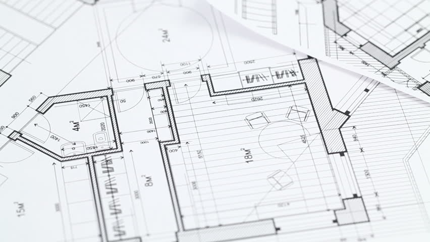 Construction Drawings Background Loop Stock Footage Video