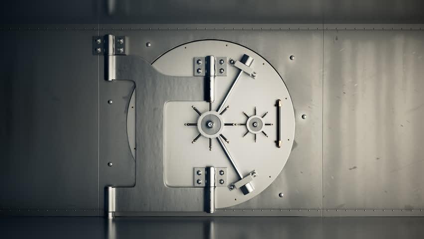 01805 Opening Of The Vault Door In Bank