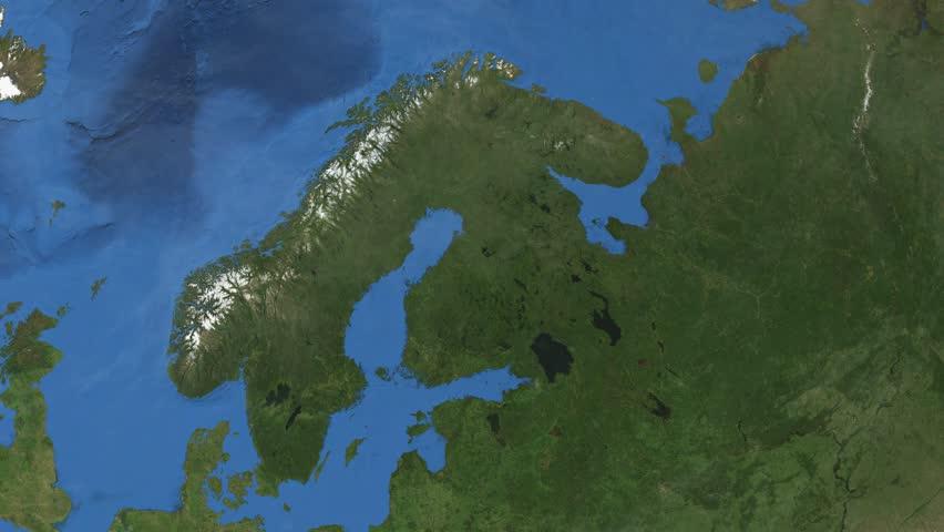 Sweden D Earth In Space Zoom In On Sweden Contoured Elements - Sweden map 3d