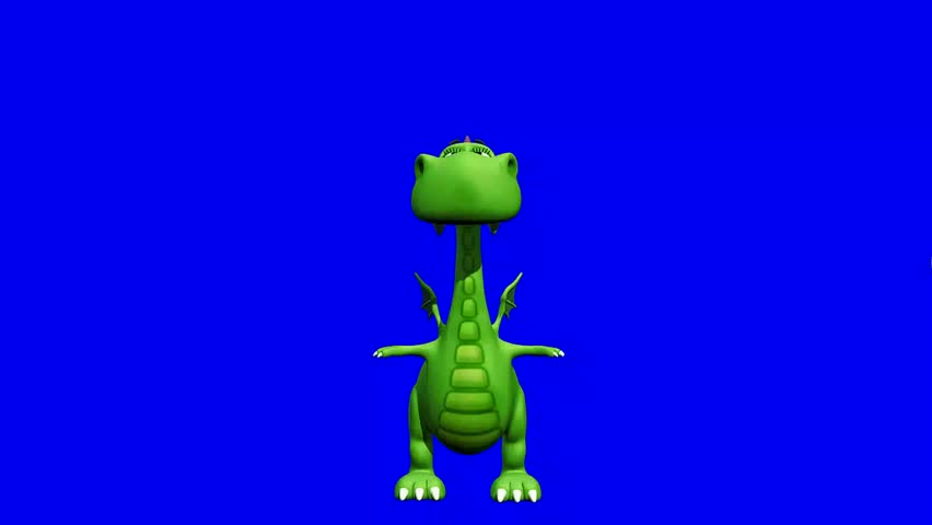chroma key footballer dino baby dragon - total control