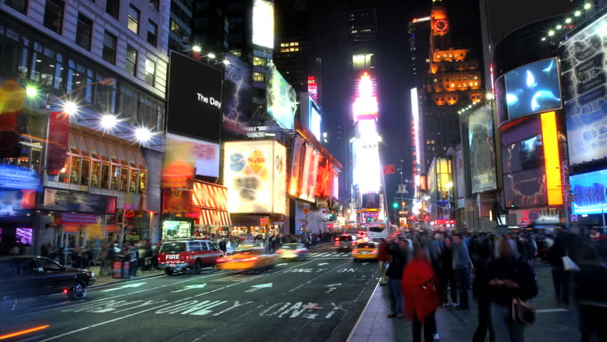 Times Square Time Lapse  | Shutterstock HD Video #755332