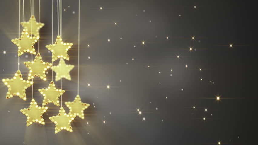 reputable site 019a9 36f77 Gold Hanging Stars Christmas Lights. Stock Footage Video (100%  Royalty-free) 7579705 | Shutterstock