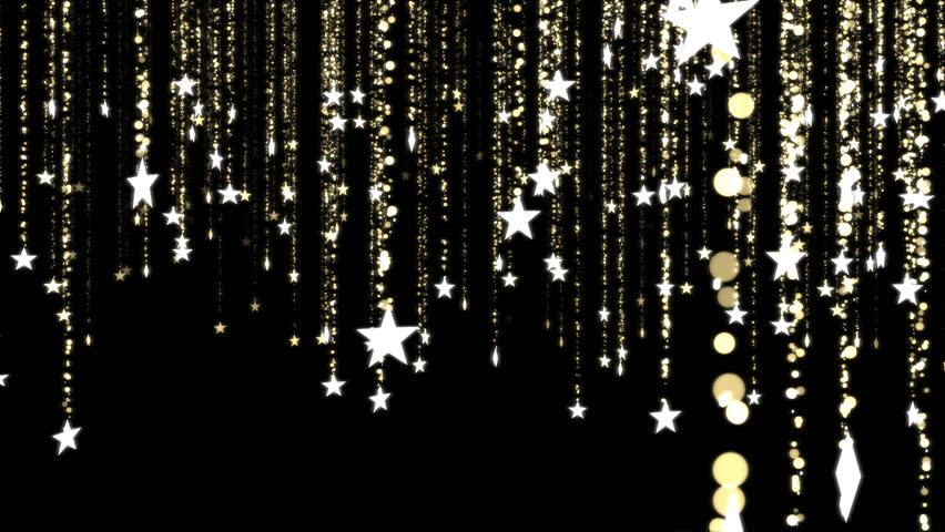 Glitter Stars, Christmas Decoration - Loop Golden | Shutterstock HD Video #7624705