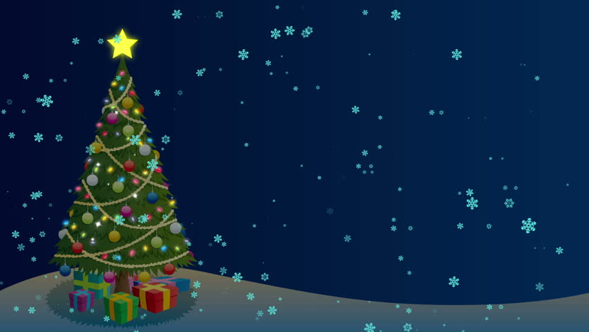 Christmas Tree Background Cartoon Christmas Stock Footage Video (100%  Royalty,free) 7628005
