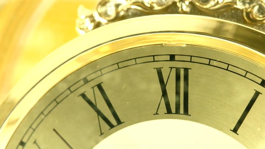 Close up vintage clock face. | Shutterstock HD Video #7633705