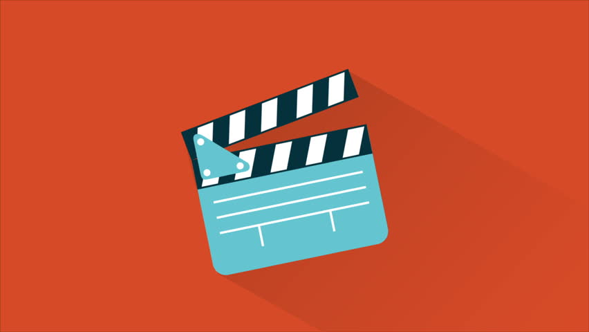 Film board on movement, Animation Design, HD 1080