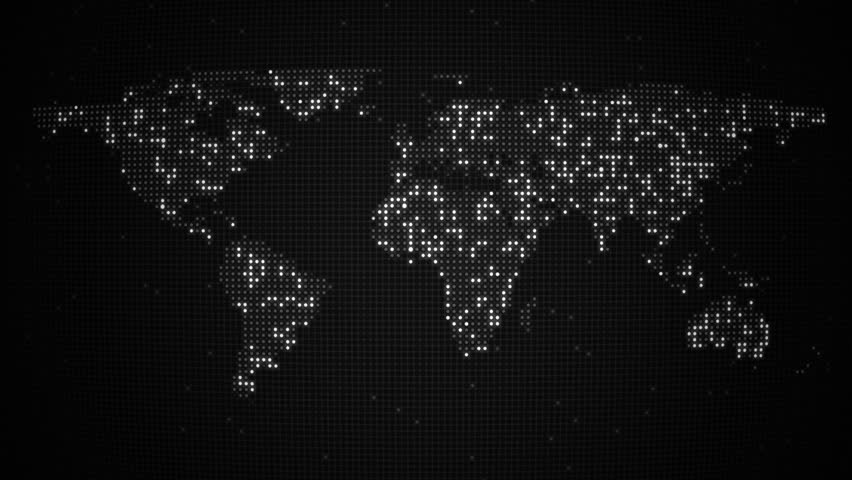 Stock video of different icons form the world map 16529359 hd0030digital silver world map loop five colors in portfolio gumiabroncs Choice Image